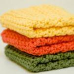 Handmade 100% Crochet Dishcloths or Washcloths (Set of 3)