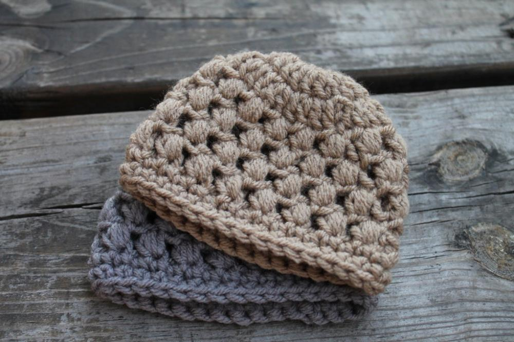 Crochet Hat Pattern For Premature Baby : Puffy Preemie Crochet Baby Hat on Luulla